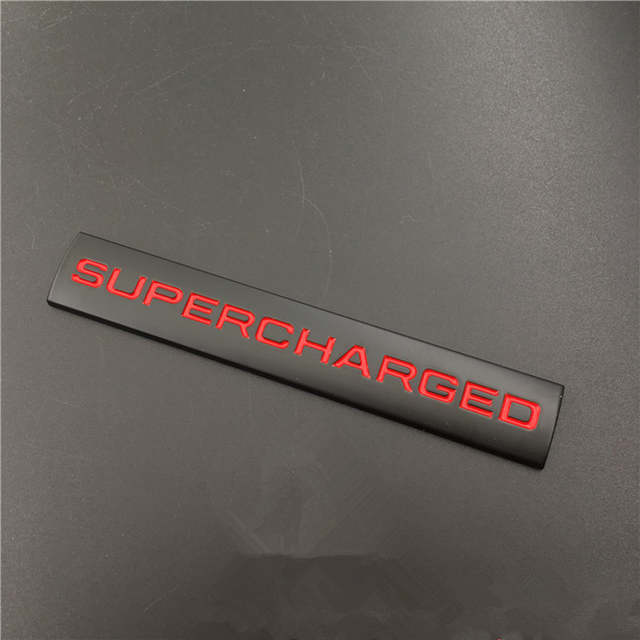 3D Metal Supercharged Emblem Badge Auto Car Side Body Sticker Exterior Decal for Range Rover Land Rover Sport Car Styling
