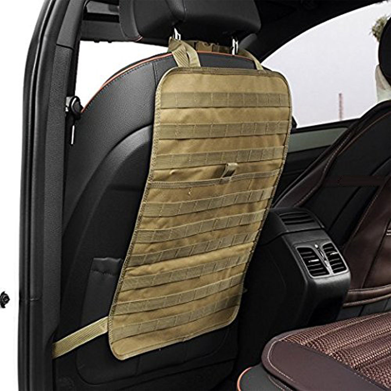 Tactical MOLLE Car Seat Back Organizer Hunting Bag Universal Seat Cover Case Vehicle Panel Car Seat