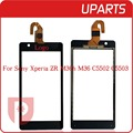 "High Quality 4.6"" For Sony Xperia ZR M36H C5503 C5502 Touch Screen Digitizer Sensor Panel Front Glass Lens +Tracking code"
