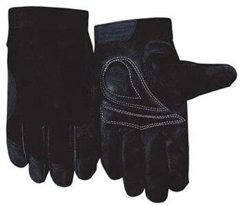 Leather Machinist Glove 2 Pairs Grain Pig Skin Leather Driver Work Glove leather work glove mig tig safety glove premium grain cow leather welding glove