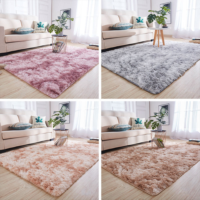 Nordic Living Room Sofa Coffee Table Rug Child Crawling Thickening Carpet Simple Plush Carpet Bedroom Room Bedside Mat