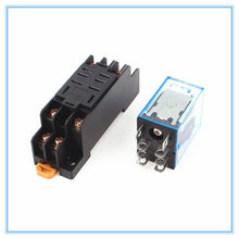 220/240 V AC 10A 8PIN Coil Power Relay DPDT LY2NJ HH62P HHC68A-2Z Met Socket Base(China)