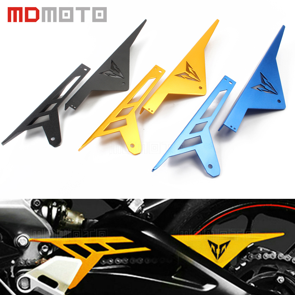 accessories Motorcycle Chain Guard For YAMAHA MT-09 FZ-09 2014-2016 FJ-09 MT09 Tracer CNC Aluminum Chain Guards Cover Protector for yamaha fz 09 mt 09 fj 09 mt09 tracer 2014 2016 motorcycle integrated led tail light brake turn signal blinker lamp smoke