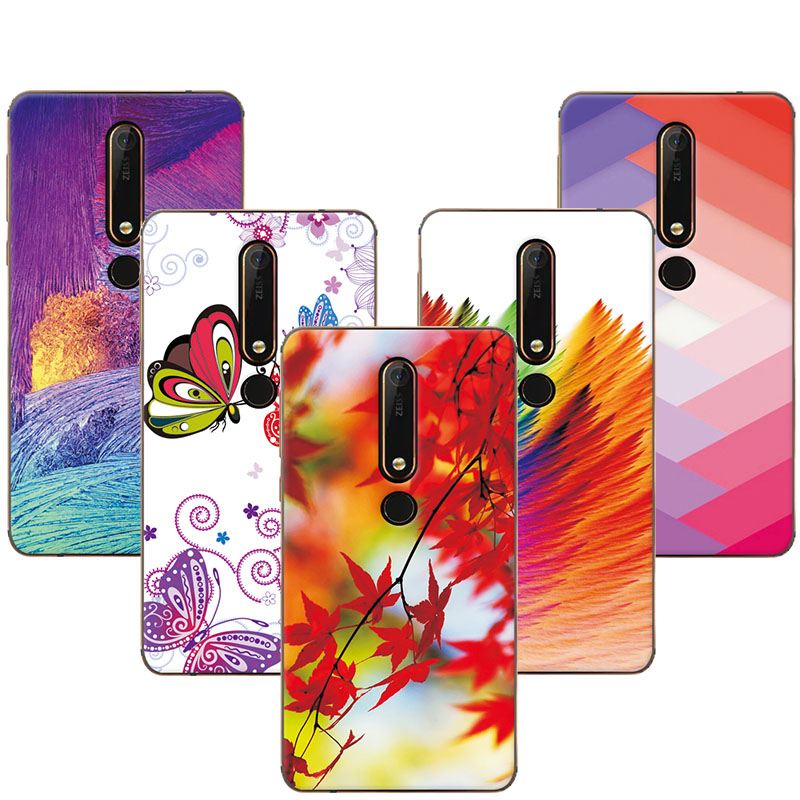 adlucky Colorful Exotic Printed Phone Case For Nokia 6 2018 / Nokia 6.1 Cases Cover For Nokia 6 2018 Coque Nokia 6.1 Shell Capa