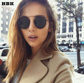 Fashion luxury round sunglasses women brand designer celebrity metal UNISEX mens retro punk sunglasses mirror lens UV400 COOL