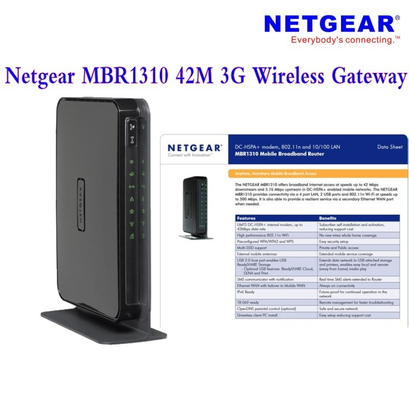 US $58 0 |New Original Unlocked DC HSPA 42Mbps Netgear MBR1310 3G  Electronics Devices And 3G Wireless Gateway-in Network Cards from Computer  & Office