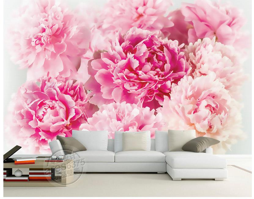 classic wallpaper for walls Home Decoration Rose Peony flower murals wall mural photo wallpaper