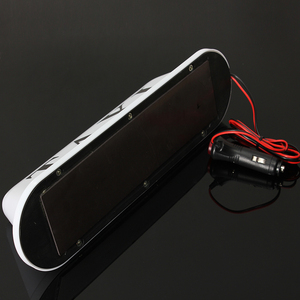 Image 2 - PVC imperméable blanc de la lampe 12V de lumière de pancarte LED de cabine de voiture de toit de Base magnétique de Taxi