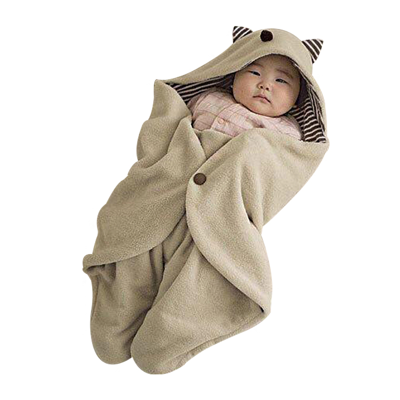 Cute Cartoon Animals Baby Kids sleeping blanket Children Beach Towel Canopy Blanket Baby Bath Supplies
