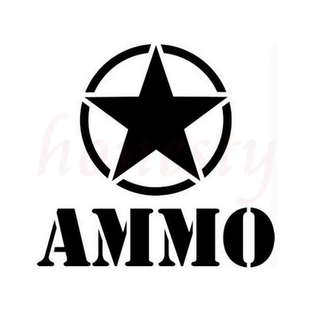 Car styling ammo star car motocycle stickers wall home glass window door vinyl decals fashion personality
