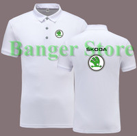 Women And Men S Skoda 4S Shop POLO Shirt Short Sleeve Overalls Work Clothes