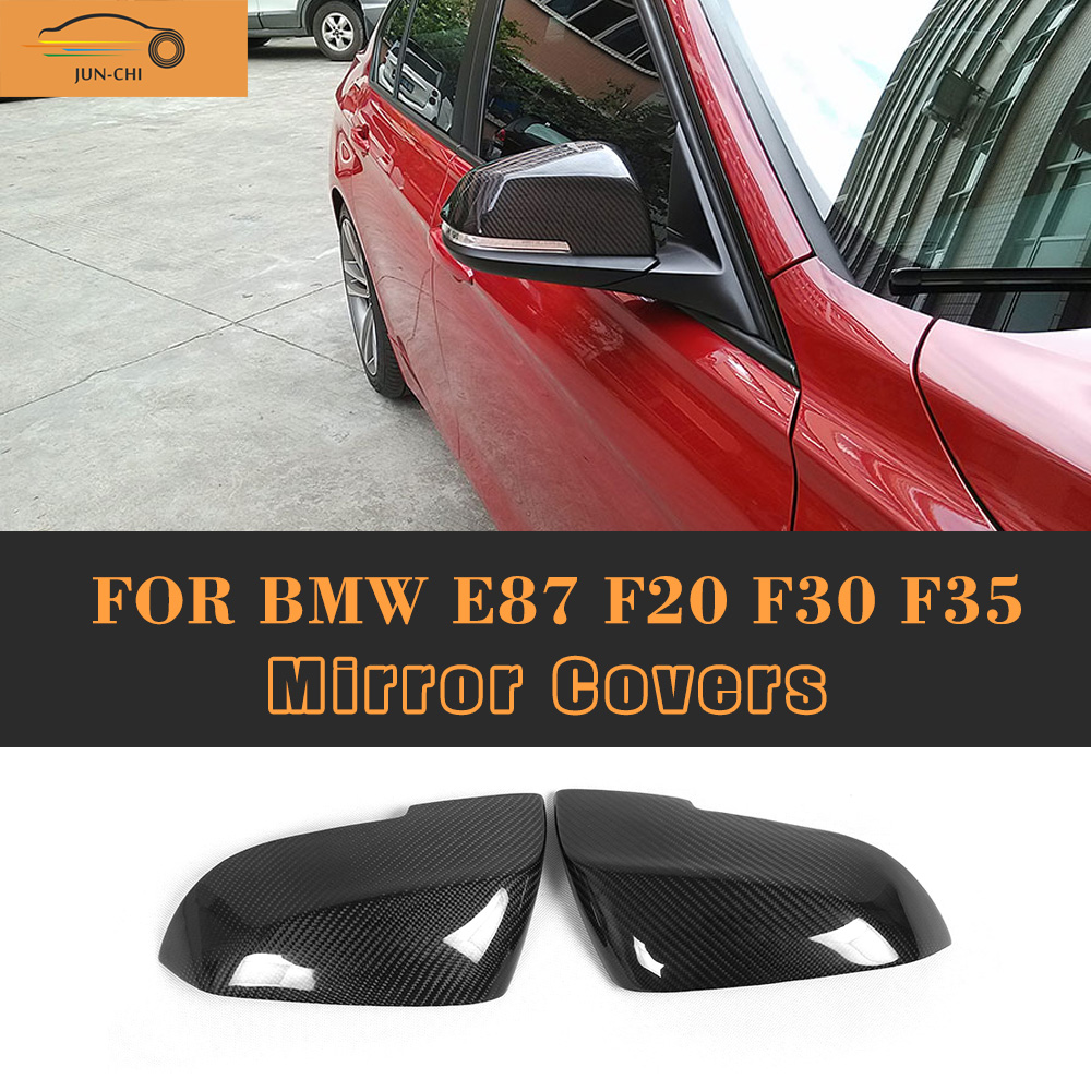 Carbon Fiber Side Rearview Mirror Covers For BMW 1 Series E87 F20 4 Door hatchback seden 2011 UP not wagon