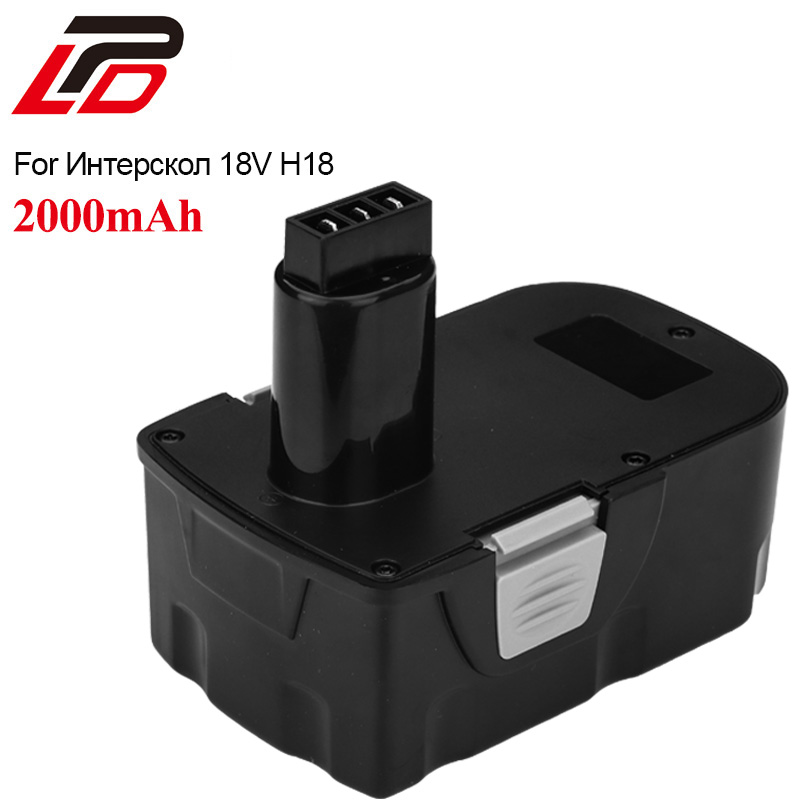 Ni-CD Power Tool Battery for Interskol H18 18V 2000mAh Replacement Cordless Drill Battery for bosch 24v 3000mah power tool battery ni cd 52324b baccs24v gbh 24v gbh24vf gcm24v gkg24v gks24v gli24v gmc24v gsa24v gsa24ve