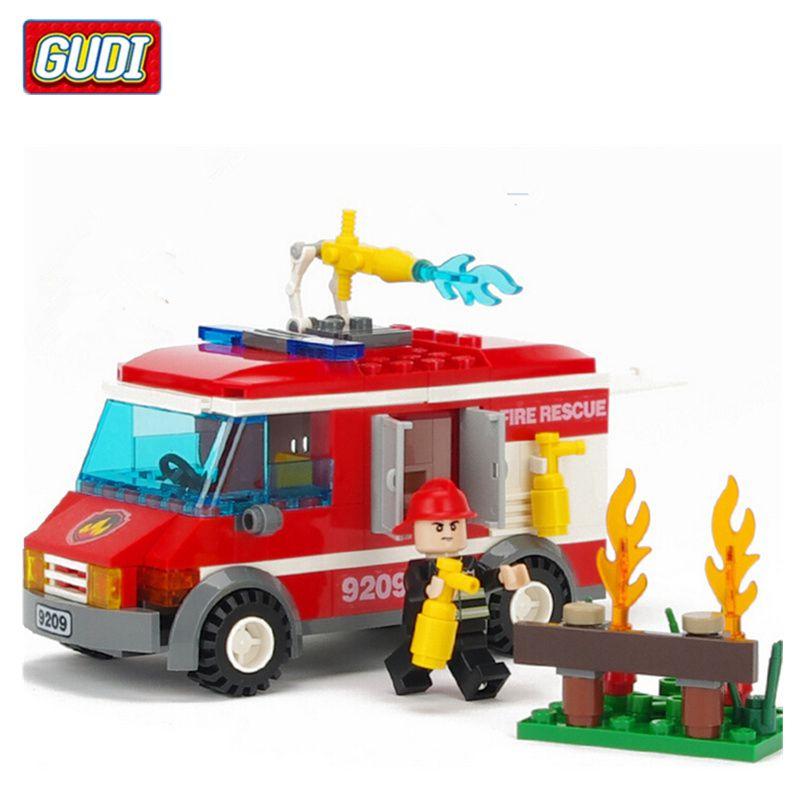 Aliexpress.com : Buy GUDI Fire Truck Blocks for Children ...
