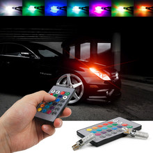 T10 W5W Led RGB strobe Light Projector Lens For Chevrolet Cruze Aveo Captiva Lacetti Sail Sonic Camaro(China)