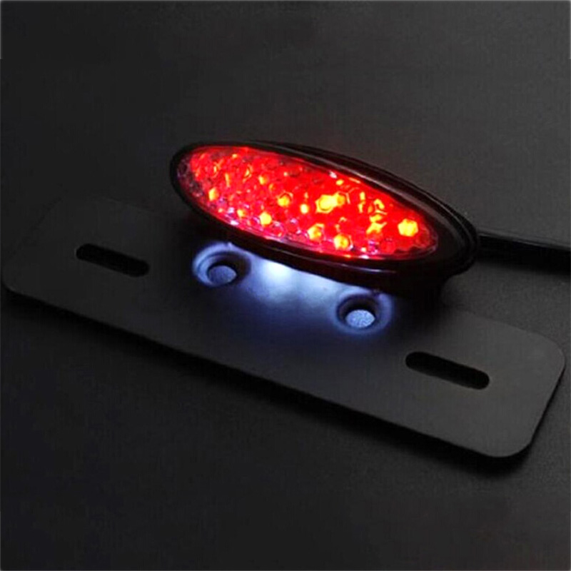 For Motorcycle Harley Chopper Bike Cross Rear Tail Brake License Plate Led Light Electric Vehicle Parts