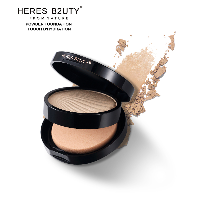 Brand HERES B2UTY New 6 Color Pressed Powder Foundation Faces Brightening Long lasting