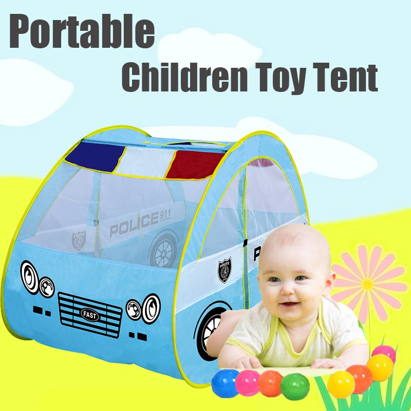 Funny Portable Children Toy Tent POLICES CAR Ocean Ball Pool Baby Kid Indoor Outdoor Kids Gifts Outdoor Toy Tents
