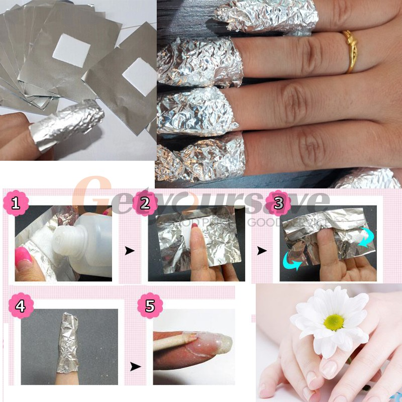Aliexpress 100pcs Lot Aluminium Foil Nail Art Soak Off Acrylic Gel Polish Removal Wraps Remover Makeup Tool From Reliable