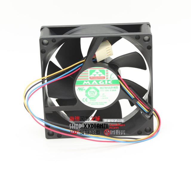 Brand new MGT8012UR-W25 8025 0.66A 8CM 12V wind chassis power supply fan