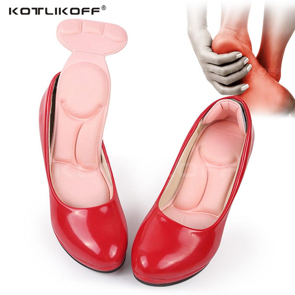KOTLIKOFF Super Soft Massage Sponge Insoles For Women Shoes High Heel Self Adhesive Insert Pad Foot Heel Protector Feet Care Pad