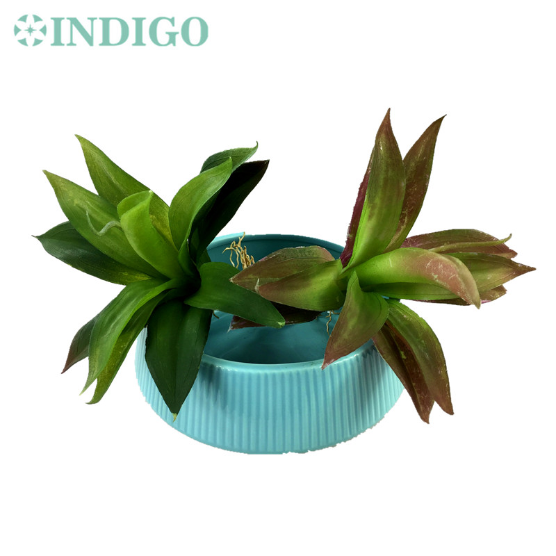 INDIGO- Wholesale 120pcs New Zealand Orchids Big Size Succulent Plant Plastic Flower Wall Background Green Plant Free Shipping