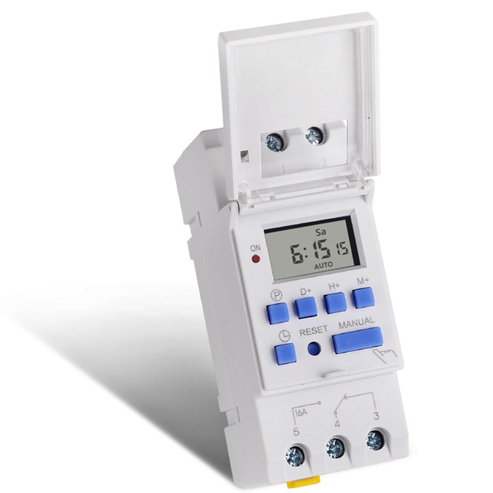 2019  AC 12~220V Weekly 7 Days Programmable Digital Time Switch Relay Timer Control Din Rail Mount for Electric Appliance