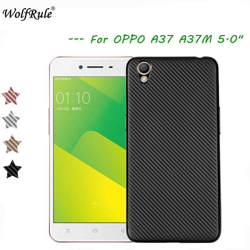 premium selection 3f65e a9cc4 WolfRule OPPO A37 Case Oppo Neo 9 Cover Luxury Full Protection Carbon Fiber  Brushed Soft TPU Case For Oppo A37 Phone Shell 5.0