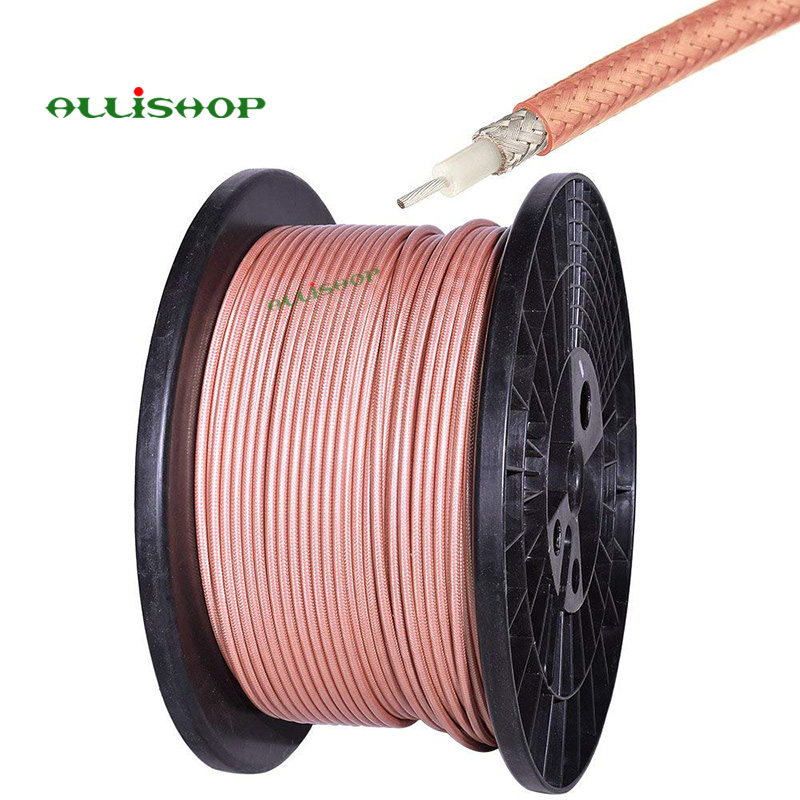 10M RG400 M17 128 RG400 Double Copper Braid Shielded RF Coaxial Cable RG400 Cable Low Loss