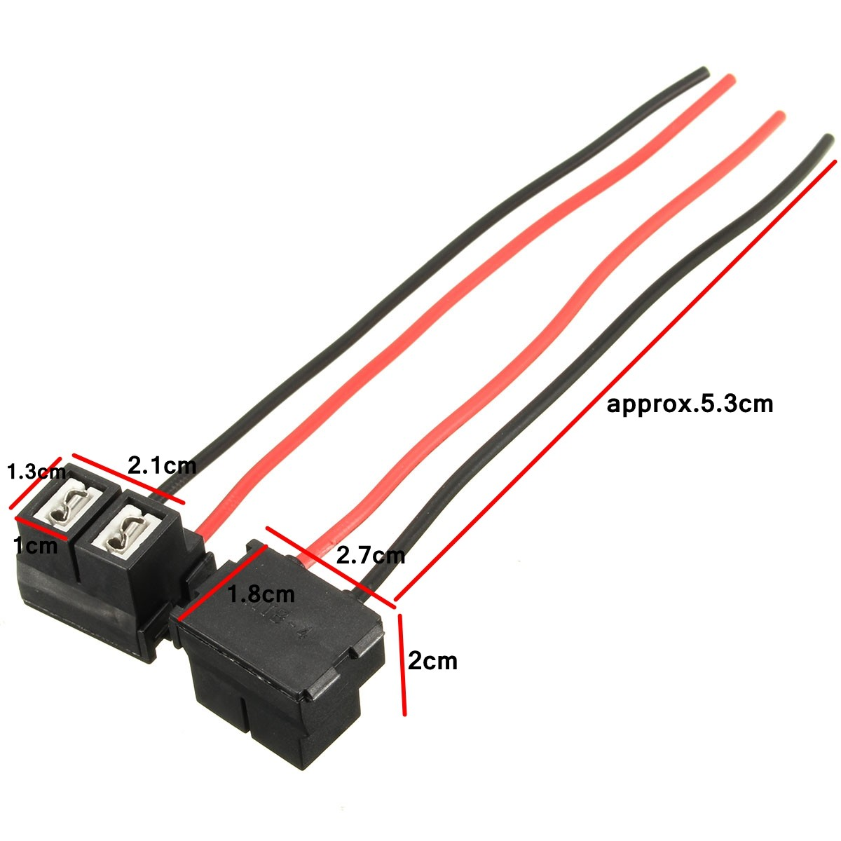 H7 Headlight Wiring Electrical Diagram Wire Harness 2x 2 Pins Repair Bulb Holder Connector Plug Socket