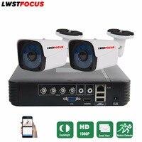 LWSTFOCUS 4CH CCTV System Full HD 1080P HDMI AHD CCTV DVR 2PCS 2.0 MP IR Outdoor Security Camera 3000TVL Camera Surveillance Kit