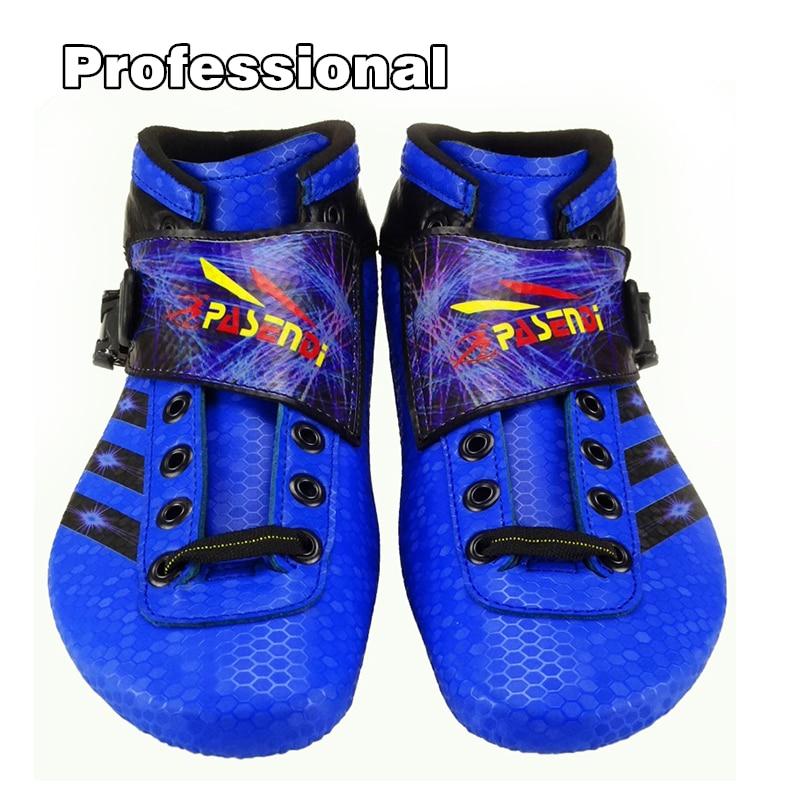 Paseni Berufs Carbon Racing Speed Skate Schuhe Erwachsene/kind Rennen Blau Skates Stiefel Top Level Inline Skating Schuhe SchüTtelfrost Und Schmerzen Skate-schuhe