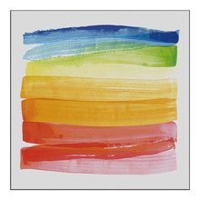 100%handmade Hand Painted colorful rainbow painting Modern Abstract Oil Painting Wall Art Canvas art  Home Decoration Picture