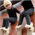 The new baby children with children's clothing qiu dong thickening and sweat pants jeans trousers