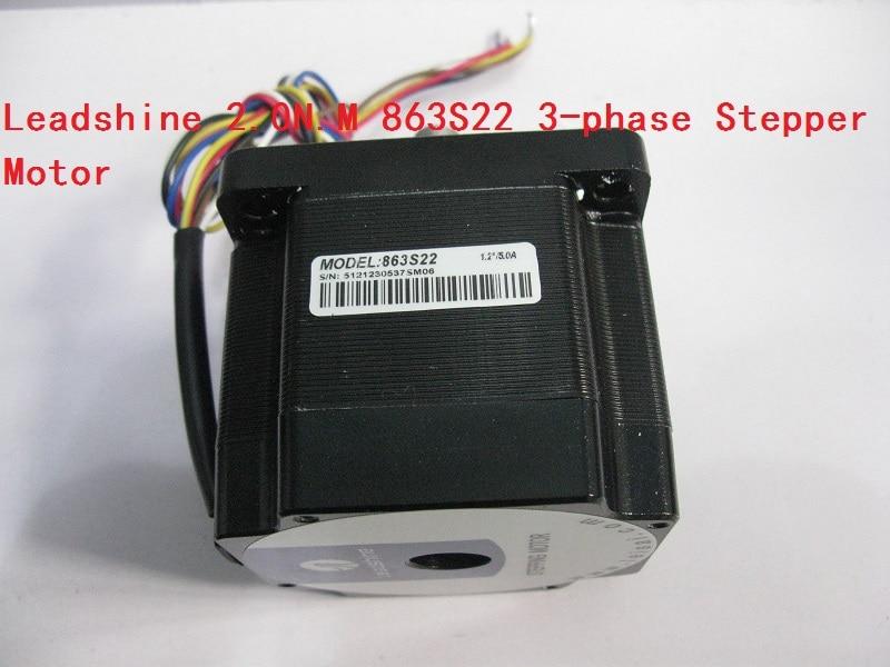 Leadshine  863S22 2.0N.M 3-phase Stepper Motor NEMA34 Step Angle 1.2 Degrees 5.0A 3 phrase leadshine 573s15 step motor