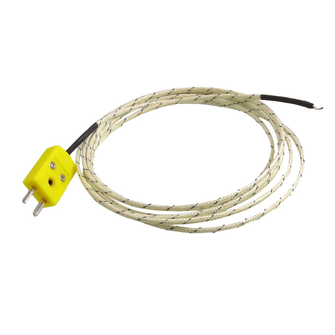 CNIM Hot 2M Cable K Type Thermocouple Temperature Measuring Probe Sensor White k type thermocouple probe temperature sensor silver 2 meters