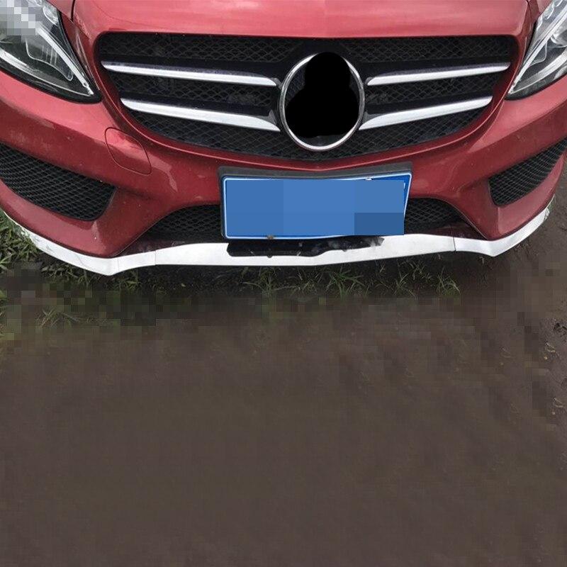 For Mercedes-Benz W205 bumper front bumper c-class front lip W205 chrome car sticker modified car accessories 2015-2018 car front