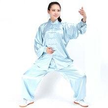 С длинным Рукавом Традиционный Южная Корея Вискоза Материал Костюм Китайский Кунг-Фу Тай-Чи Равномерное Весна Осень Рубашки Брюки для мужчины Женщины