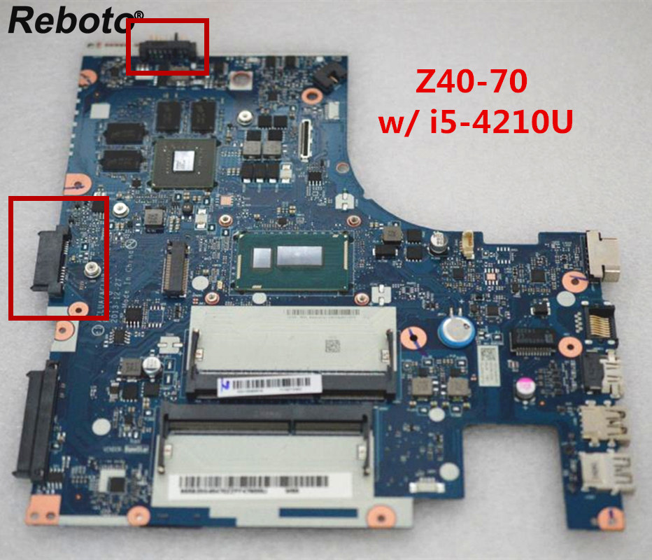 Original For Lenovo Z40 70 Laptop Motherboard NM 273 With i5 4210U CPU GT820M 2GB GPU FRU 5B20G45470 MB 100% Tested Fast Ship-in Laptop Motherboard from Computer & Office    1