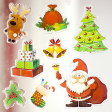 Window Glass Wall Sticker Christmas DIY Snow Stickers Decals Cartoon Home Decoration Supplies