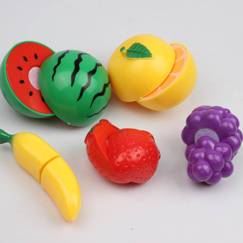 11pcs/set Kids Kitchen Play Set DIY Plastic Fruit Vegetable Kitchen Cutting Toys For Children Cooking Cosplay Safety
