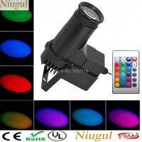 Wireless Remote Control RGB LED Beam Pinspot Light /DJ Mirror Ball Lighting For KTV Bar Club Wedding Party Disco LED Spot Light
