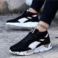 VIXLEO 뜨거운 경량 실행 신발 남성 스포츠 신발 스마트 칩 남성 블랙 운동화 통기성 남자 신발 화이트/블루 36-45