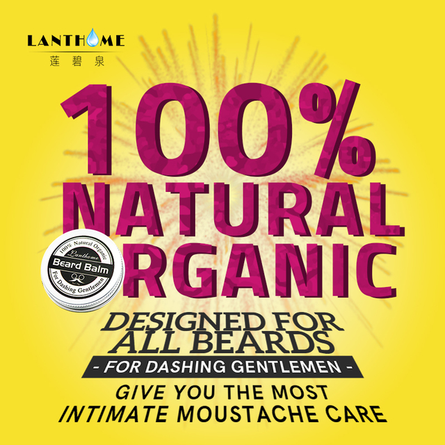 New Lanthome Beard Oil and Balm Moustache Wax beard grooming conditioner beard balm for styling moisturizing smoothing gentlemen 1