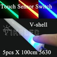 Touch sensor streifen Fabrik Großhandel 1 Mt DC 12 V 72 SMD 5630 LED fest Steifer GEFÜHRTER Streifen Bar Licht mit U Aluminium shell + pc abdeckung