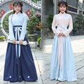 2017 spring deisgn chinese folk dance guzheng dance clothes ancient costume princess hanfu dresses cosplay clothing