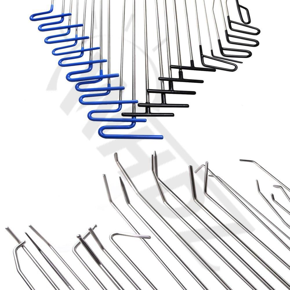 Strumenti gancio Set Puntale Piede di Porco Dent PDR Ammaccature senza vernice di Rimozione riparazione Tool Kit per Auto Auto Body DoorDing Grandine Manuali di Riparazione strumento - 2