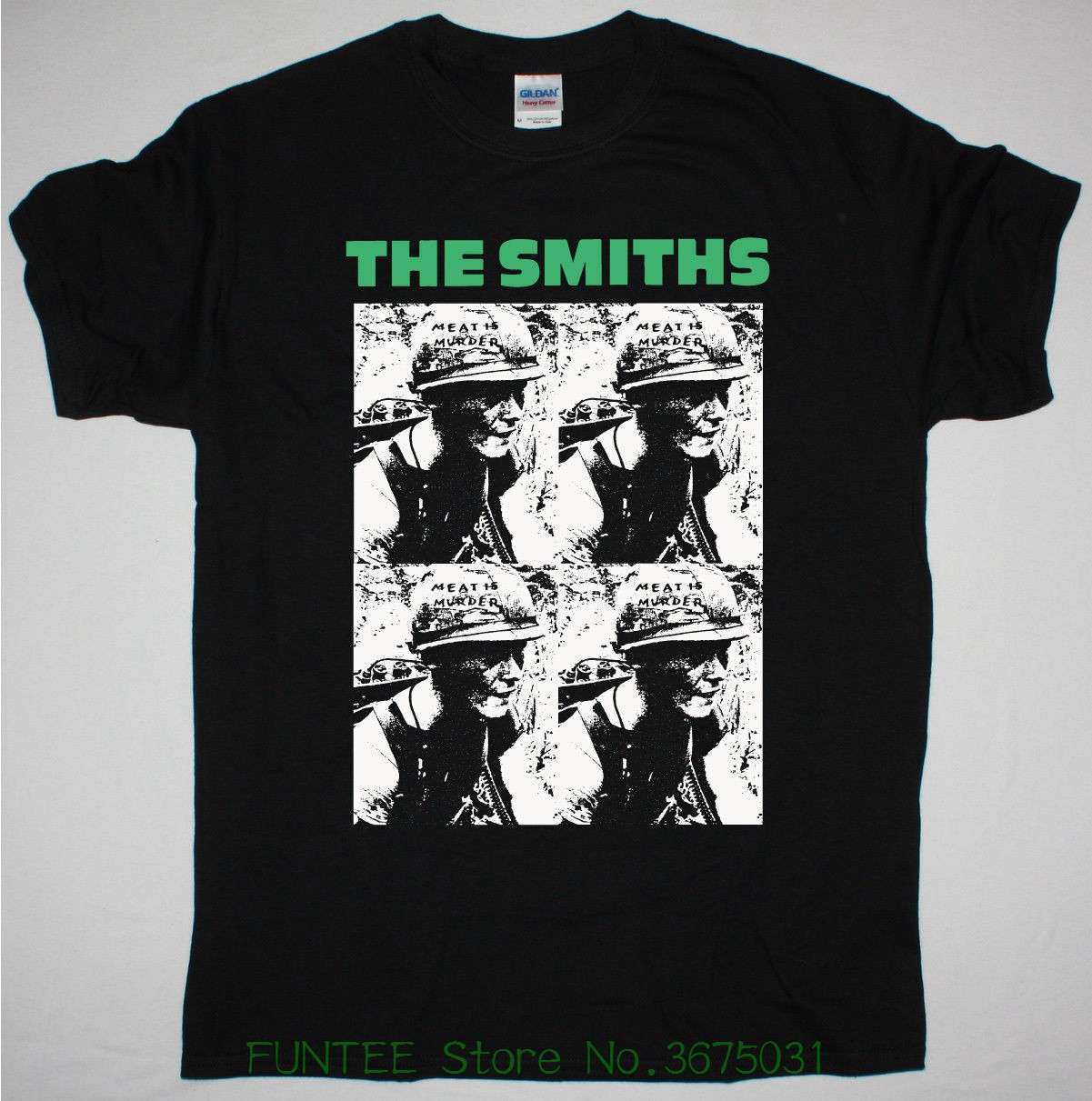 4dc401d6 Short Sleeve Tshirt Fashion The Smiths Meat Is Murder Black Mens T Shirt  Indie Rock Morrissey
