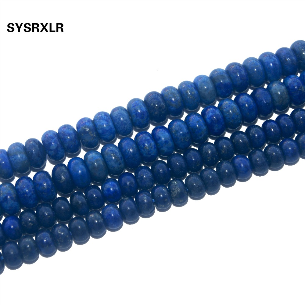 Natural Stone Lapis Lazuli Labradorite Agates Rose Quartzs Crystal Beads Spacer Rondelle Beads For Jewelry Making DIY Bracelet in Beads from Jewelry Accessories