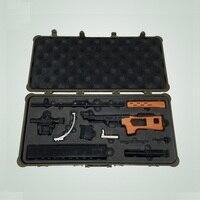 1: 3 СВД снайперская винтовка модель игрушки 85 снайперская винтовка металла игрушечное оружие инструменты для аксессуаров